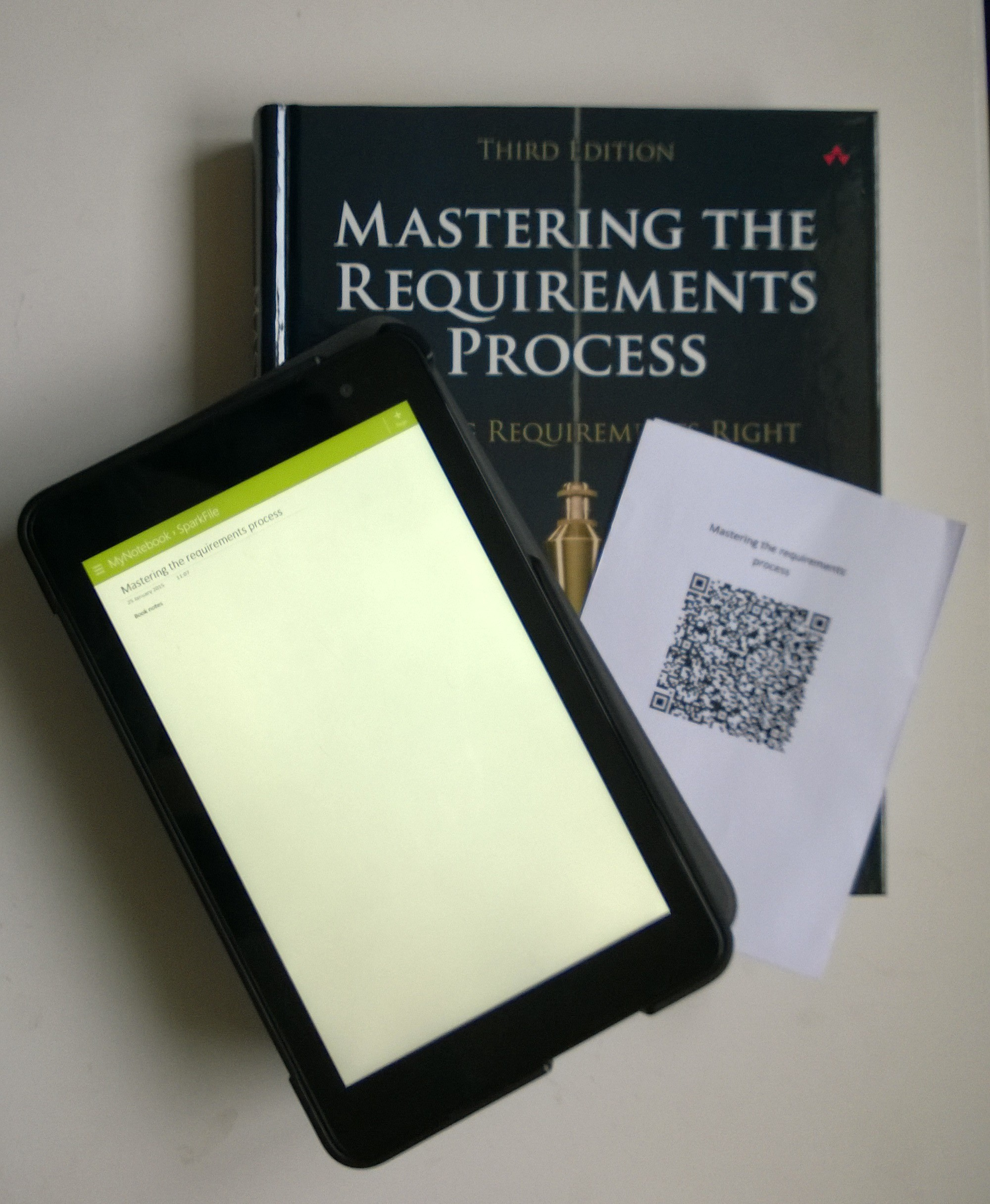 Bookmark with QR code link to OneNote